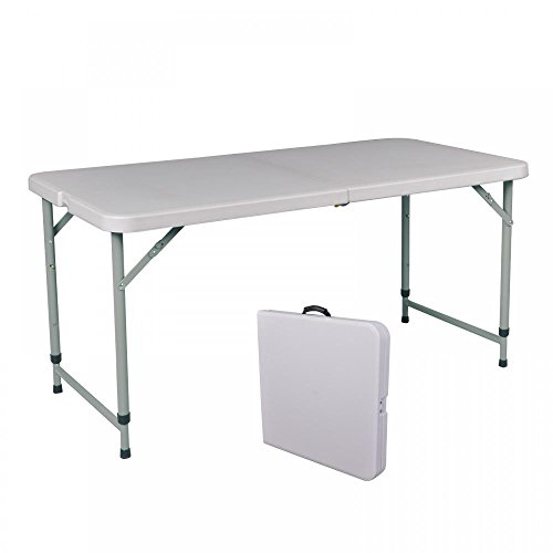 BestOffice Portable 4' Adjustable Folding Utility Table Camping Picnic Outdoor Yard A429