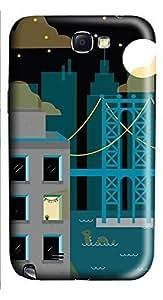 Samsung Note 2 Case Brooklyn Night 3D Custom Samsung Note 2 Case Cover Kimberly Kurzendoerfer