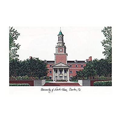 Campus Images Sports Team Logo Design University of North Texas Campus Images Lithograph Print