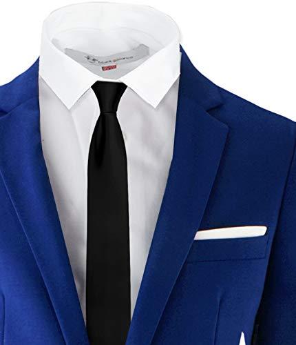 Black n Bianco Signature Boys' Slim Fit Suit Complete Outfit (7, Blue) by Black n Bianco (Image #2)