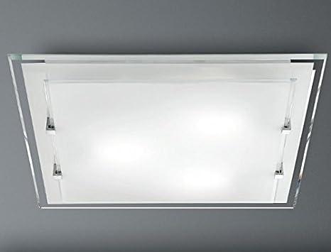 Plafoniera Quadrata 40x40 : Plafoniera da soffitto perenz lampada