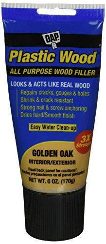 - DAP 582 Series 00582 6oz Gold Oak Latex Plastic Wood, Golden