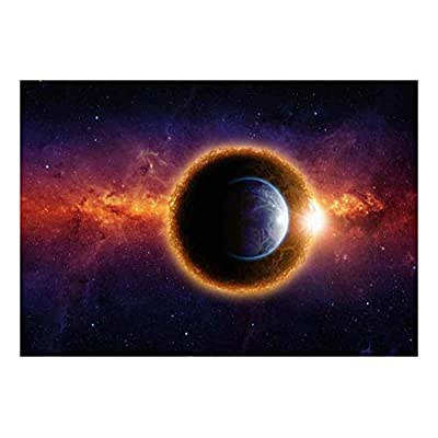 Stunning Expertise, Premium Creation, Planet Earth Sitting in Front of a Massive Planet and Galaxies Wall Mural