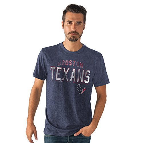 NFL Men's Line Up Tri-Blend Short Sleeve T-shirt (Small, Houston Texans) Texans Football T-shirt