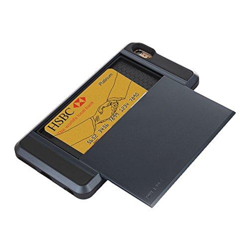 SANHENGMIAO US Se Aplica al iPhone para chasis de combinación de Ranura para Tarjeta iPhone 6 Plus y 6S Plus PC + TPU (Color...