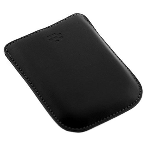 Original OEM Lambskin Leather Pouch Case HDW-19815-001 for RIM Blackberry 9530 9500 Storm Smartphone
