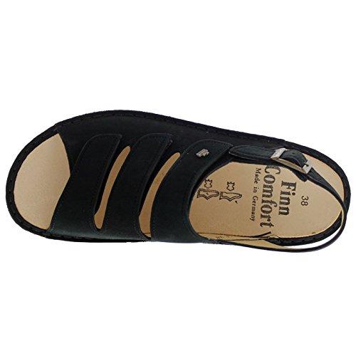 Finn Comfort Womens 2509 Sylt Nubuck Sandals Nero (nero)