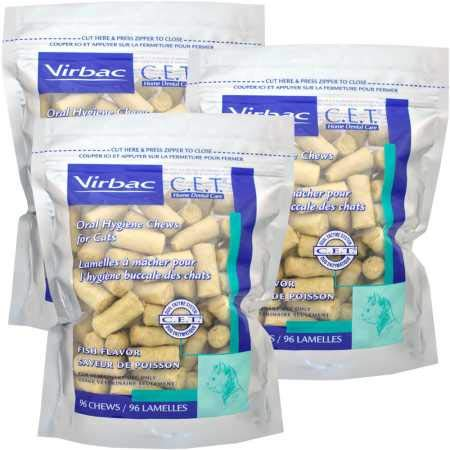 CET 3PACK Chews for Cats Fish Flavor (288 Chews) by CET