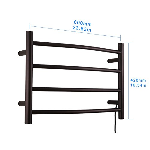 Sharndy Electric Towel Rack Towel Warmer Orb Wall Mounted Oil Rubbed Bronze by SHARNDY (Image #1)