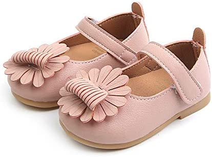 Baby Toddler Girls Princess Shoes Flats for 1-3 Years Old Kids Cartoon Flower Leather Single Casual Shoes