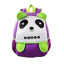 Renly Little Kids Zoo Backpack,panda,Purple