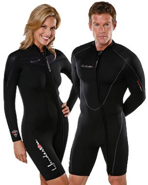 Henderson Man 5mm Thermoprene Long Sleeve Shorty / Jacket (Front Zip) Scuba Diving Wetsuit-XLarge