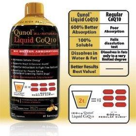Qunol Ultra Haute Absorption CoQ10 All Natural Liquid 100mg 60-Portions