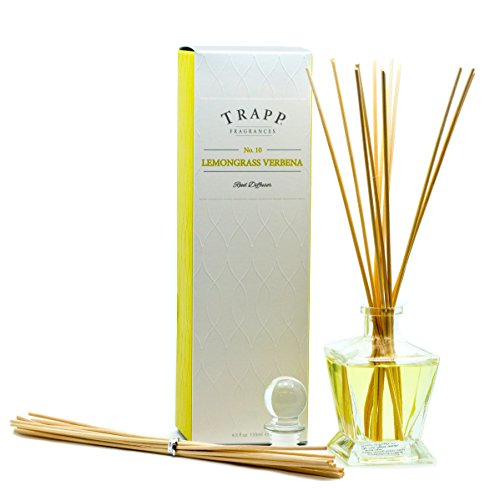 Trapp Candles Reed Diffuser Kit, No. 10 Lemongrass Verbena, 4.5-Ounce