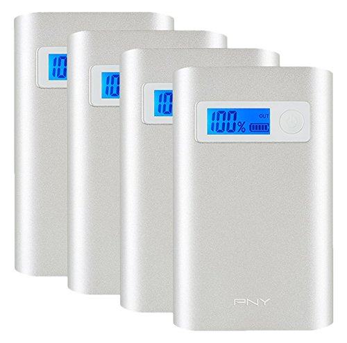 PNY AD7800 7800mAh 1/2.4 Amp Dual Port PowerPack for Smartphone & Tablet - 4-Pack (P-B-7800X4-24-S03-MP) by PNY
