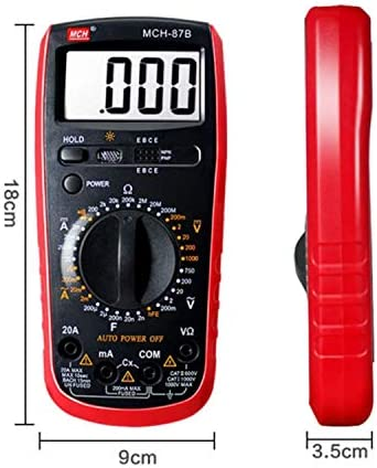 LKK-KK Three and a Half Digital Multimeter Handheld Portable High Precision Household Electric Mini Pocket MCH-87B durable