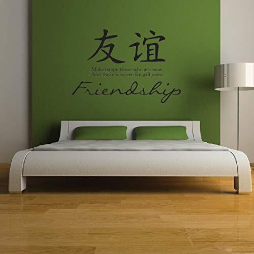 yiyitop Símbolos Chinos Pegatinas de Pared para el Dormitorio Sala ...