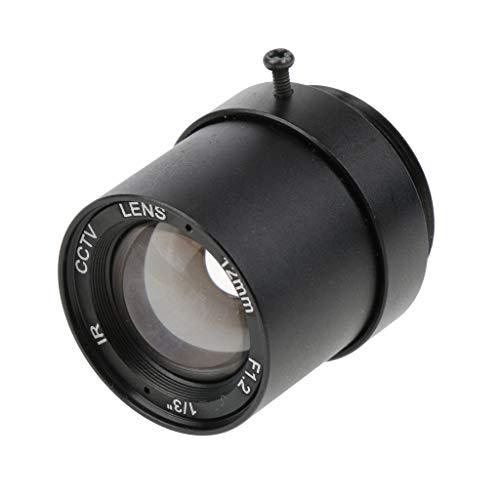 (SM SunniMix 12mm F1.2 1 Mega Pixels Fixed IRIS IR CCTV Lens CS Mount Lense for Security IP Camera )