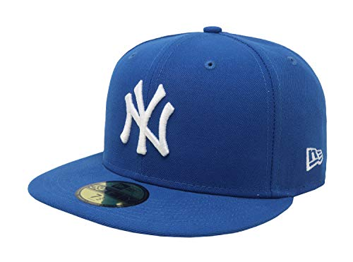 New Era 59Fifty Hat New York Yankees MLB Basic Blue Fitted Cap 11591129 (7 1/2)