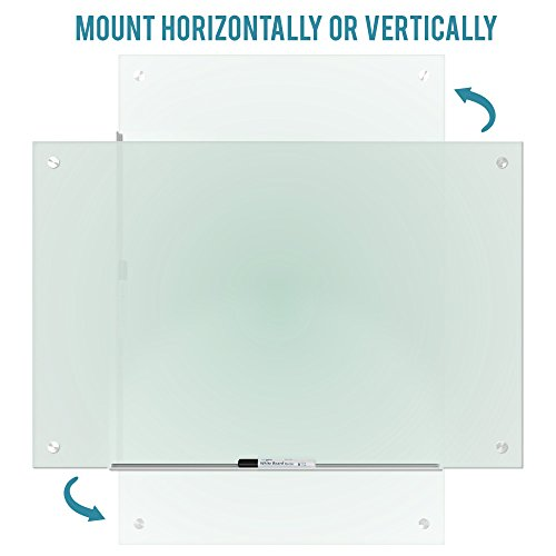 """Magnetic Glass Dry Erase Board Whiteboard 35 x 47"""" Large Clear Frameless Infinity Frosted Surface Aluminum Tray Bonus Eraser 4 Markers 6 Magnets Home School Office Classroom Supplies (35 x 47 inch) by Dapper Display (Image #5)"""