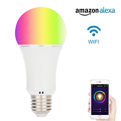 Akface Smart Light Bulb,WiFi App Remote controlled lights,Multi Color Dimmable bulbs,Works with Amazon Alexa Echo Dot