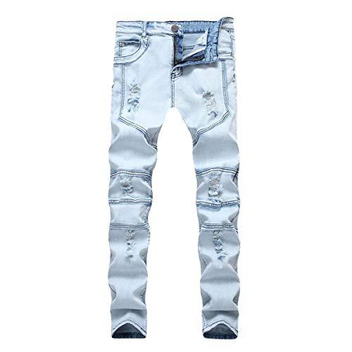 De Manera Mediados Clásico Los De La Delgada De Ocasionales Mezclilla Larga Pantalones Chicos Vaqueros Blue De Vaqueros De Hombres La Ajustados Vendimia Cintura Deniers Stretch Jeans Azul Pantalones nvHxSw