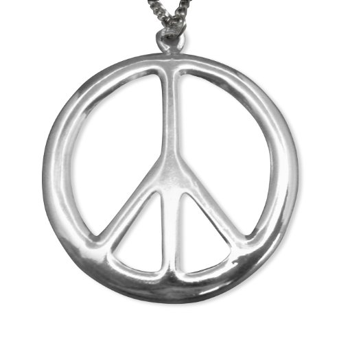 Large Silver Peace Sign - 7