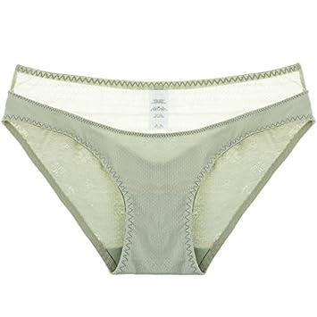 Rey&Qing Ropa Interior Femenina Pantalones Cintura Transpirable De Algodón Algodón Niña Lady Briefs Calzoncillos,M