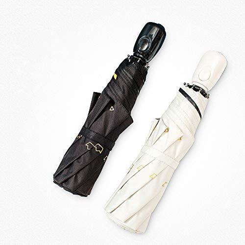 Z.L.FFLZ Umbrellas Rain Guard Windproof Umbrella Bundle Auto Open Shut Dupont Teflon-Coated Lightweight Anti UV Durable (Color : Black, Size : Free)