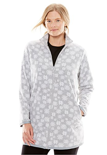 Woman Within Women's Plus Size All American Comfort Zipper