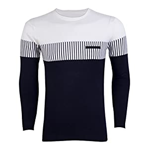 Mens Long Sleeve Slim Fit Crew-Neck Sweater Knit Pullover