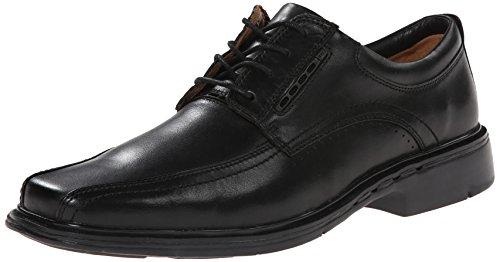 Clarks Leather Tie - CLARKS Unstructured Men's Un.Kenneth Dress Casual Tie,Black,9 N US