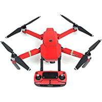 XCSOURCE Waterproof Carbon Fiber Sticker Skin Decal Cover for DJI Mavic Pro Drone Transmitter Battery Red RC571