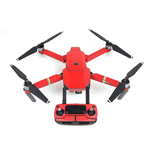 2 opinioni per Waterproof Carbon Graphic Stickers Skin Decals for DJI MAVIC PRO Red