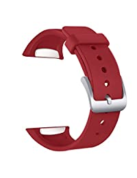 Samsung Gear S2 Band - FanTEK Soft Silicone Replacement Strap for Samsung Gear S2 Smart Watch SM-R720 SM-R730 Version Only (Red)