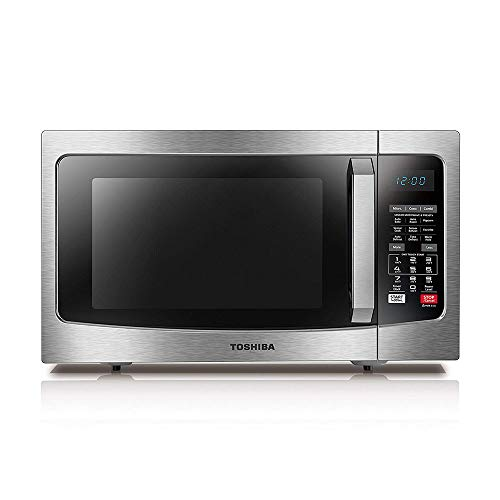 Toshiba EC042A5C-SS Microwave Oven with Convection Function Smart Sensor and LED Lighting, 1.5 cu. ft./1000W, Stainless Steel (Emerson Stainless Steel Microwave 1-3 Cu Ft)