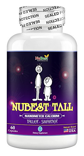 #1 Maximum Natural Height Growth Formula - NuBest Tall 60 Veggie Capsules - Herbal Peak Height Pills - Grow Taller Supplements - Nanometer Calcium - Doctor Recommended