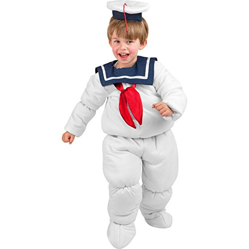 Kids Stay Puft Costumes (Toddler Marshmallow Costume 2-4T)