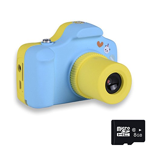PANNOVO YT001 Mini 1.5 Inch Screen Children Kids Digital Camera with 8GB Cards(Blue) by PANNOVO