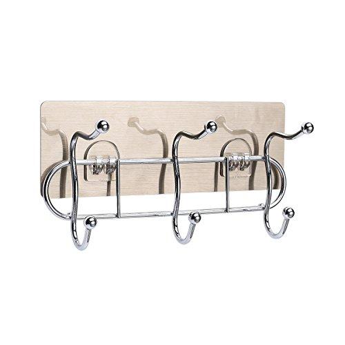 Metrekey Door Hooks for Bathroom Adhesive Wall Mounted Rack Removable Heavy Duty Towel Hanger Coat Key Holder Kitchen Backpack Stainless Stell