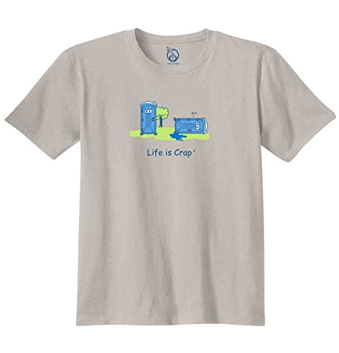 Life Is Crap Porta Potty Good Life Funny Shirts Gift Ideas T-Shirt Tee (Porta Collares)