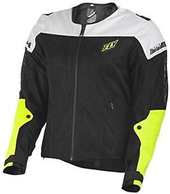Motorcycle Jacket for Men and Women FLY Racing Flux Air Mesh Jacket BLACK, Medium