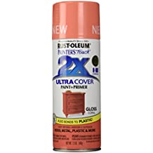 Rust-Oleum PTUCG249-189 Painter's Touch Ultra Cover Gloss Aerosol Paint, 12 oz, Coral