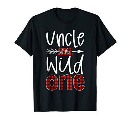 - Mens Uncle of the Wild One Shirt Plaid Lumberjack 1st Birthday