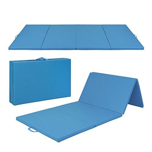 4'x10'x2″ Gymnastics Gym Folding Exercise Aerobics Mats Blue Stretching Yoga Mat Most Viewed