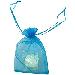 "SUNGULF 100pcs Organza Pouch Bag Drawstring 4x6"" 10x15cm Strong Gift Candy Bag Jewelry Party Wedding Favor (Turquoise)"