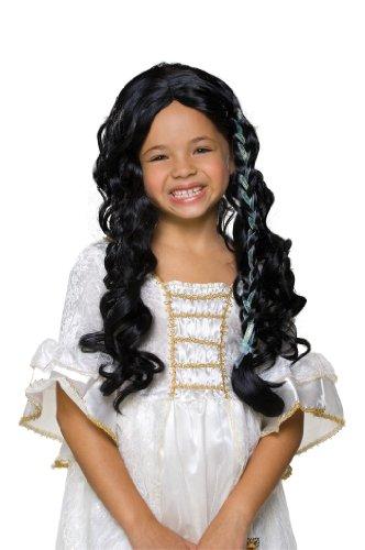 Rubie's Glamorous Princess Child's Costume Wig, Raven Black (Black Raven Wig)