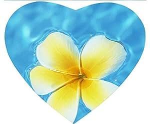 Hawaiian Yellow Flowers Anti Slip Comfort Mouse Pad Heart-Shaped