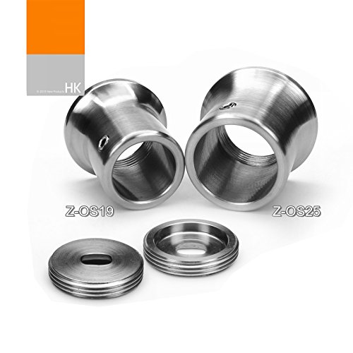 1 Pair VIBORG Solid SUS 304 Stainless Steel Extra Thick Flanges Shower Curtain Rod Closet