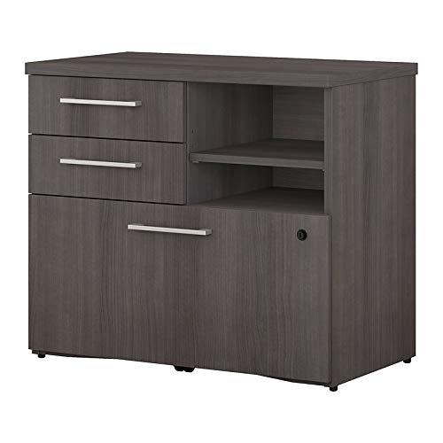 Bush Business Furniture 400 Series 30W Piler Filer Cabinet in Storm -